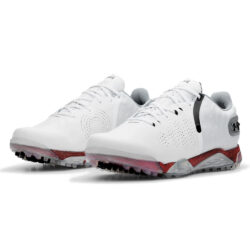 Under Armour Spieth 5 Spikeless Golf Shoes - White/Silver