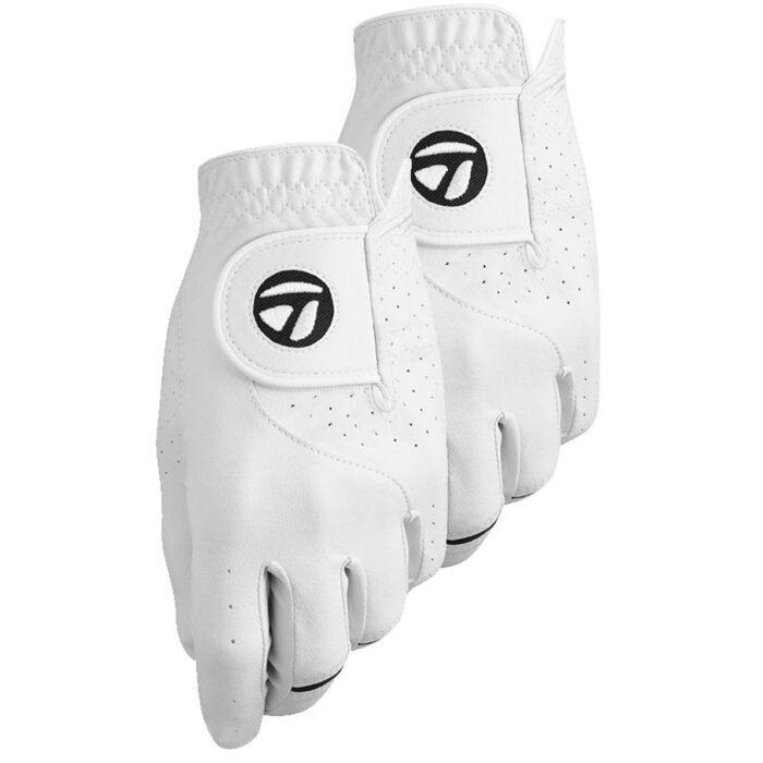 TaylorMade Stratus Tech Golf Glove (2 pack) - White
