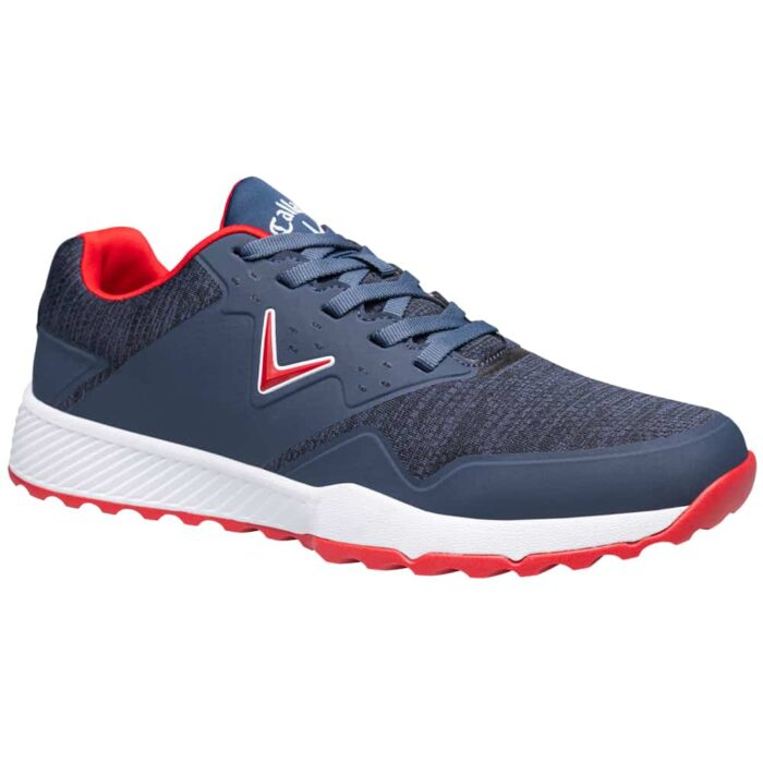 Callaway Chev Ace Aero Golf Shoes - Navy/Red/Heather