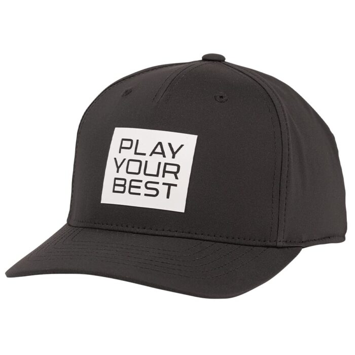Ping Stacked Play Your Best Snapback Cap - Black/White