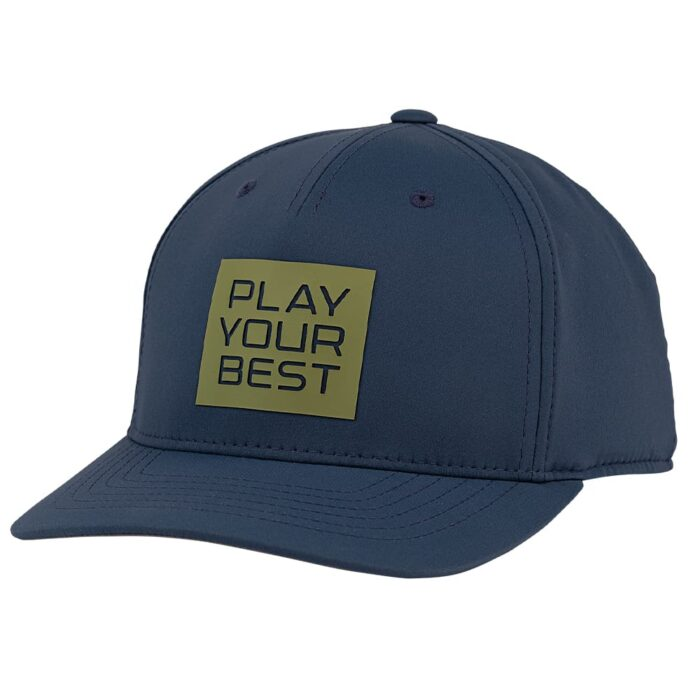 Ping Stacked Play Your Best Snapback Cap - Navy/Olive