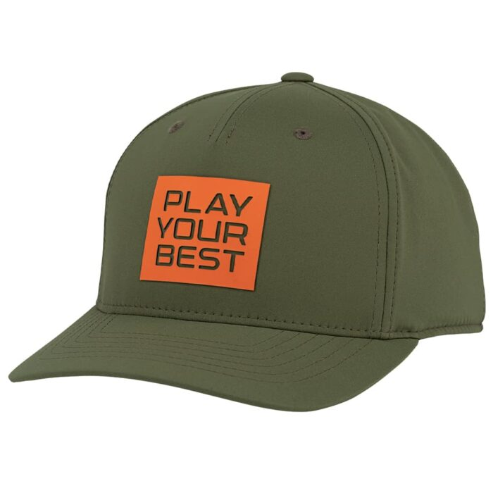 Ping Stacked Play Your Best Snapback Cap - Orange/Olive